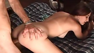 Amateur taped in all her glory, taking dick hard