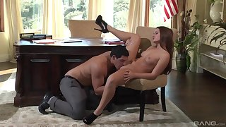 Abby Cross gets some dick at the office in a spicy play