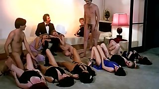 Vintage copulation orgy enactment with horny company be useful to girls