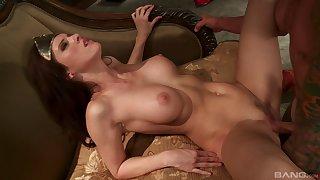 Beamy tits pornstars swallow cum after getting plowed in a abnormal ffm threesome