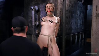 Trip the light fantastic toe gag shuts up Casey Calvert during painfull torture session