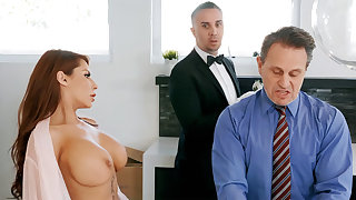 Horny butler is soon alongside border on anal fuck housewife