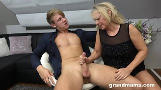 Hot rent boy bangs sex-starved old woman Marta and cums in her mouth