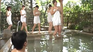 Outdoors video be incumbent on one dude fucking lots be incumbent on Japanese cuties