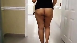 Asian MILF Naked more Hotel Hallway
