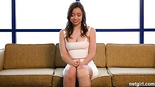 Broad-saw first-timer creampied elbow 1st audition