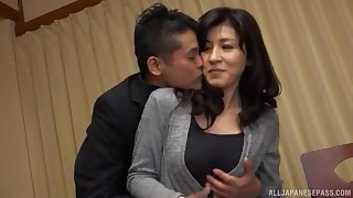 Japanese MILF gets her dose of dick around only modes